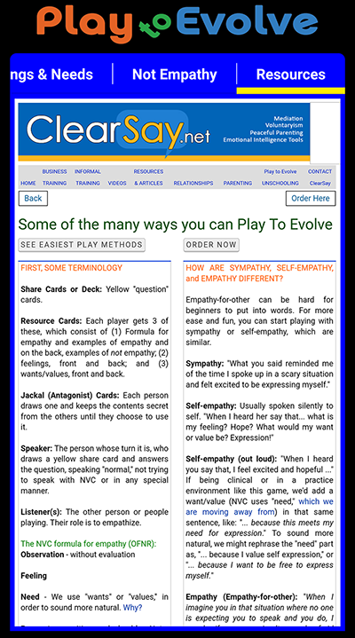 NVC Play to Evolve EQ Android App by Scott Swain