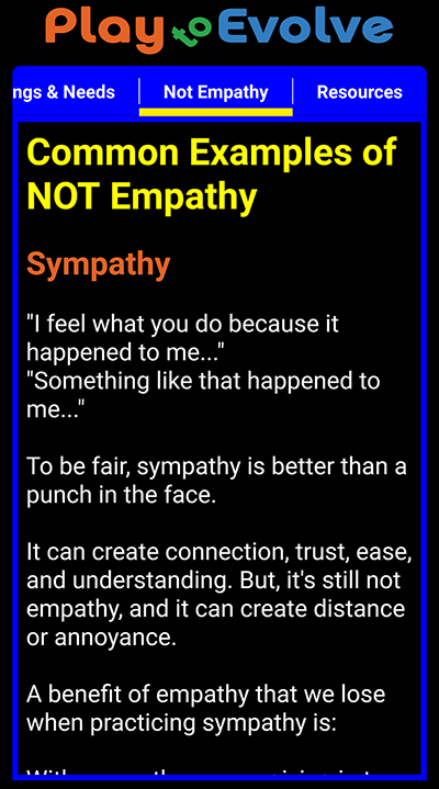 Play to Evolve - a Practical Empathy game