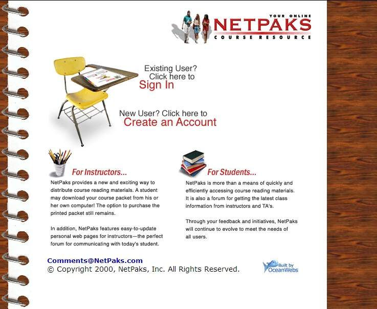 Netpaks Course Packets